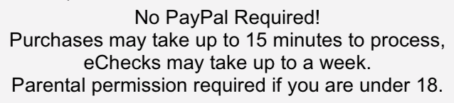 No PayPal Required